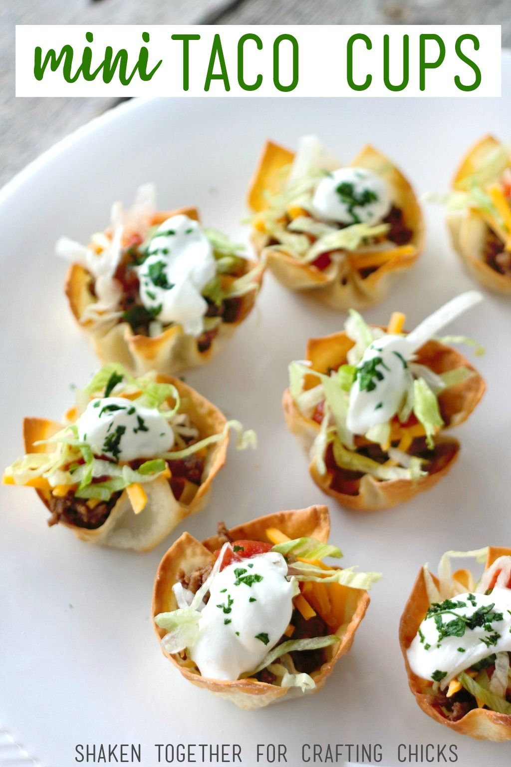 Photo of Mini Taco Cups – A Quick & Easy Appetizer