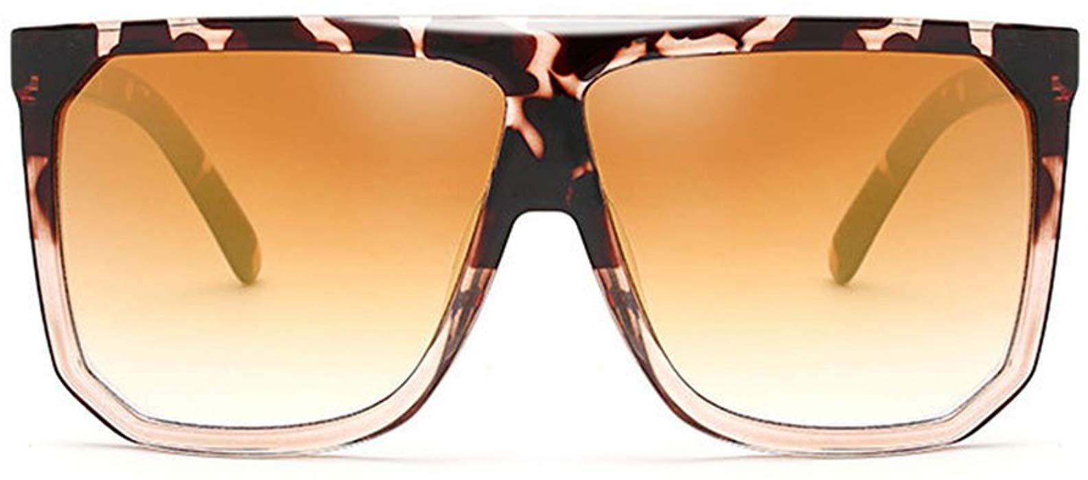 Morye Fashion Oversized Sunglasses Flat Top