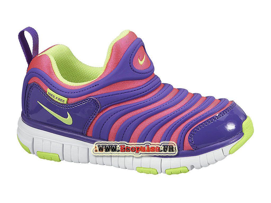 Nike Dynamo Free PS - Chaussures Nike Pas Cher Pour Petit Garçon Explosion  rose Volt 2b1e62dea4c9