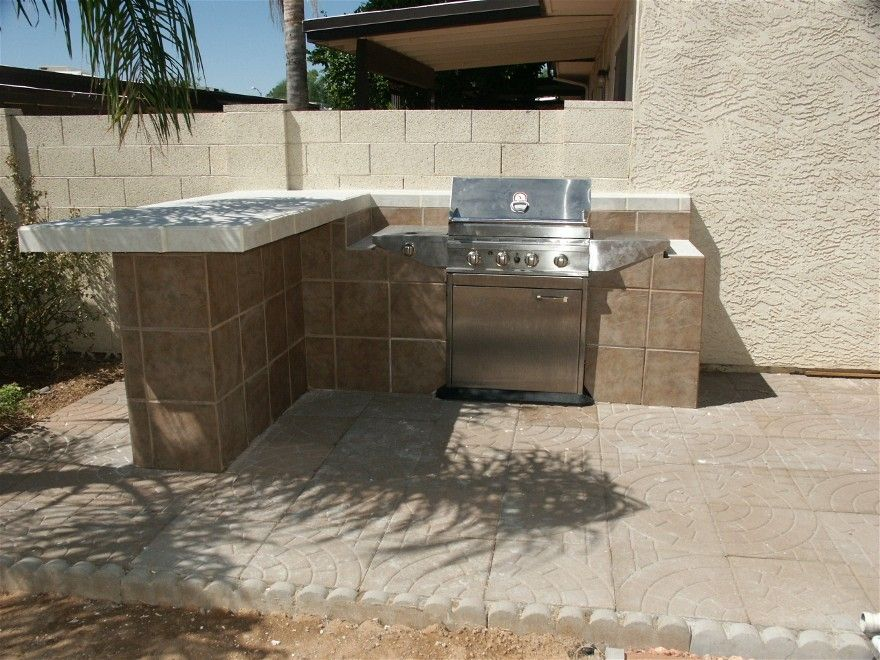 Built in Outdoor Grill Designs | budget kitchen for small ...