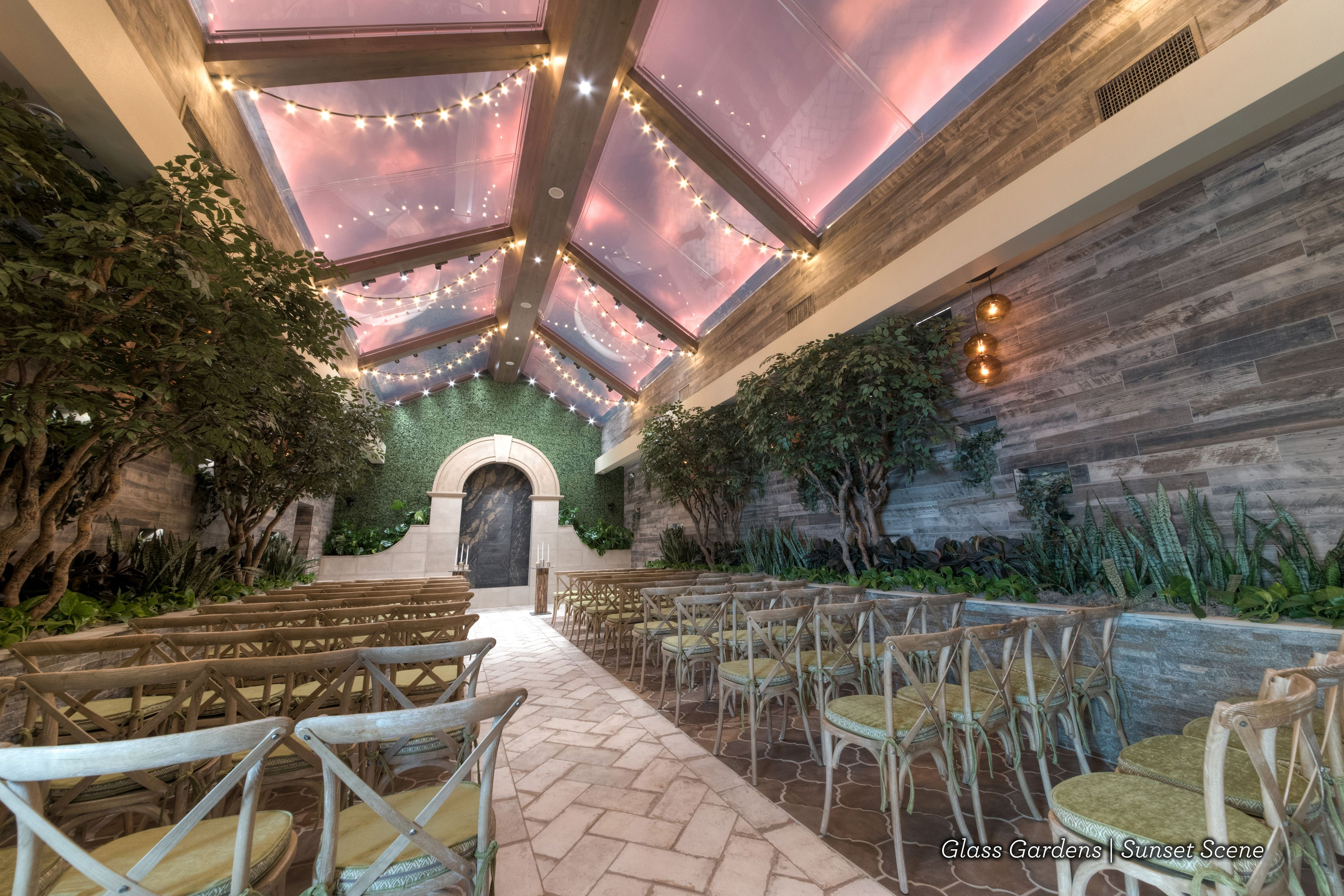 Romantic Sunset Wedding Ideas Indoor Garden Wedding Venue Best Vegas Wedding Venue Las Vegas Wedding Venue Las Vegas Weddings Vegas Wedding