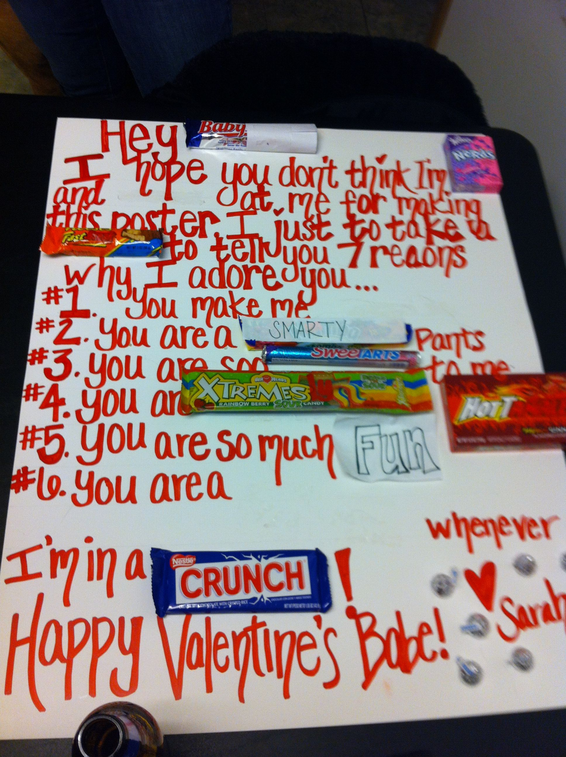 my friend sarah gave this to her boyfriend for valentines day