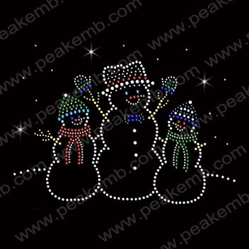Christmas snowman face Vinyl /& Rhinestone Transfer