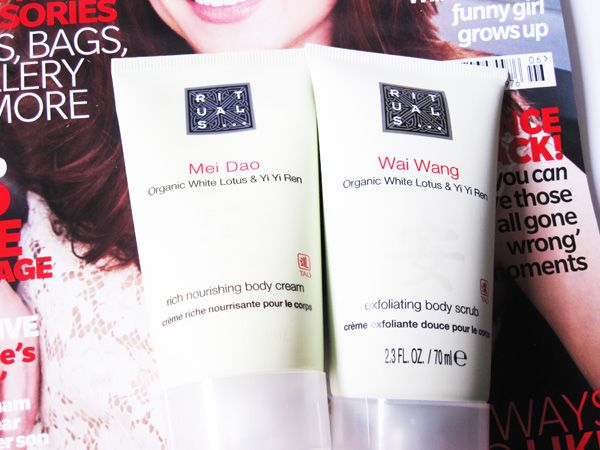 May UK magazine freebies: Rituals body cream and body scrub with Easy Living