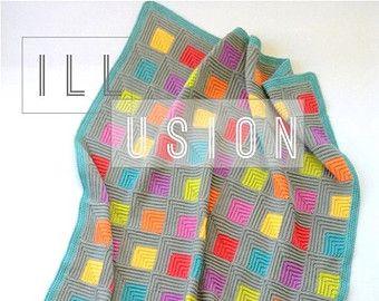 Crochet Pattern  Scrappy Happy V-stitch Blanket  by MyRoseValley