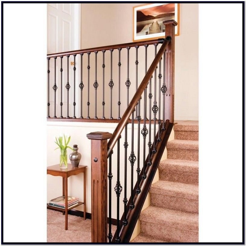 Best Wrought Iron Balusters Home Depot Wrought Iron Stair 640 x 480