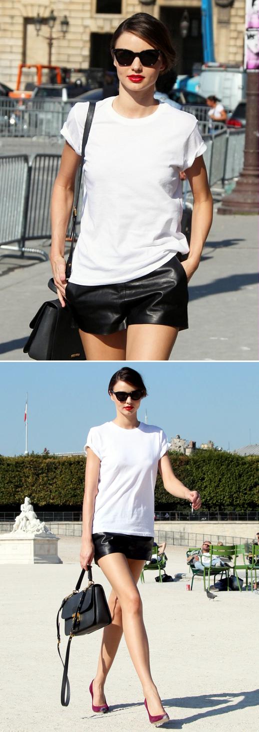 Leather shorts! #lefashion