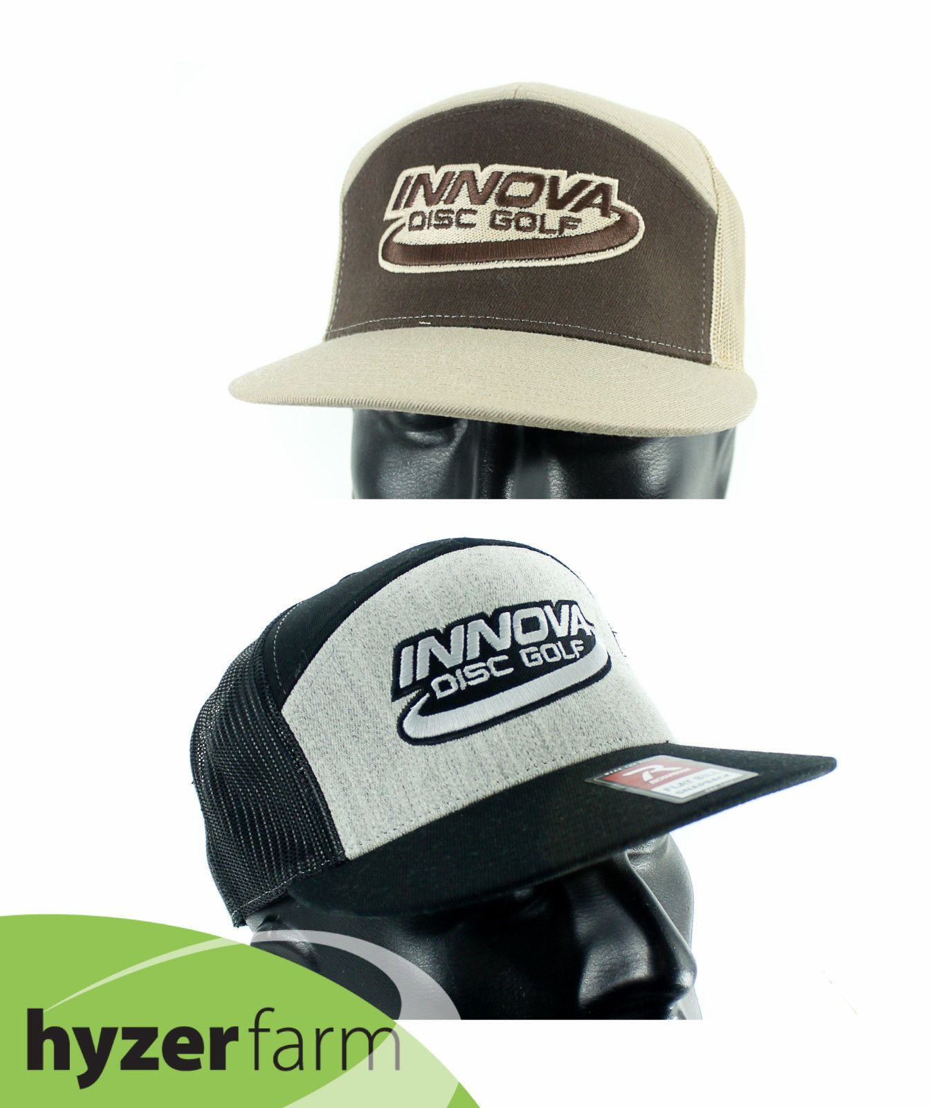 Disc Golf Accessories 184360  Innova Logo Flat Bill Snap Back Mesh Hat   Pick Color  Hyzer Farm Disc Golf -  BUY IT NOW ONLY   21.95 on eBay! 79b425f690f8