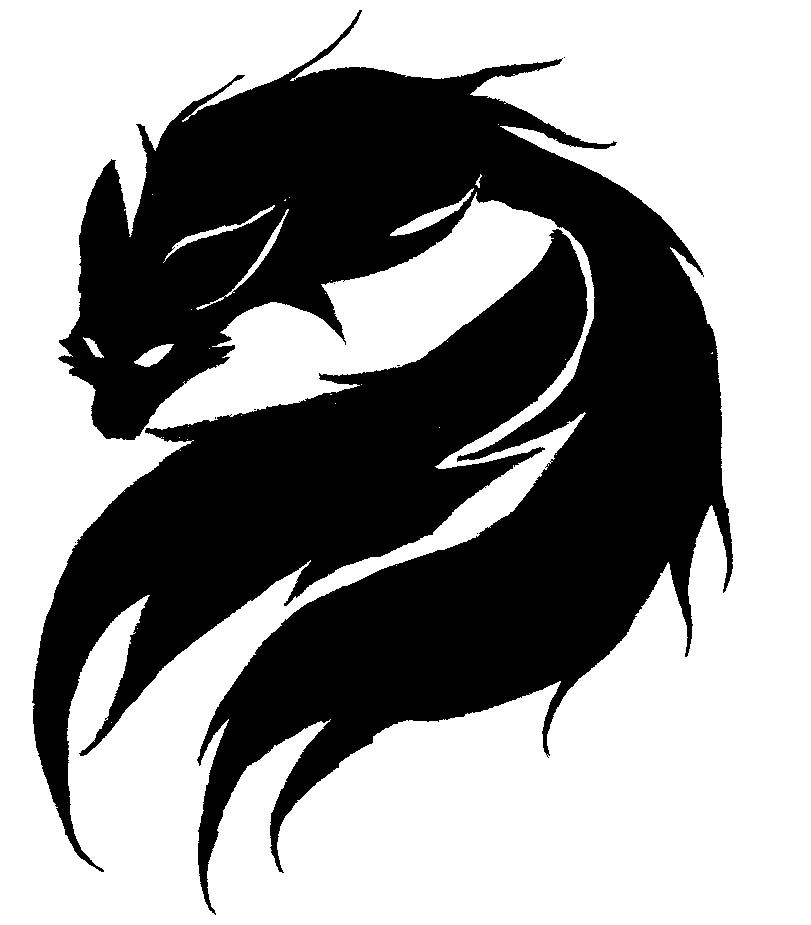It is a picture of Sly Demon Fox Drawing