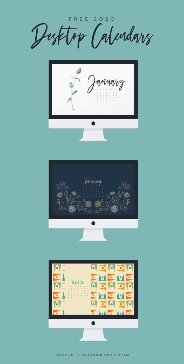 2020 Desktop Calendars Designs By Miss Mandee Desktop Calendar Design Desktop Wallpaper Calendar Computer Wallpaper Desktop Wallpapers