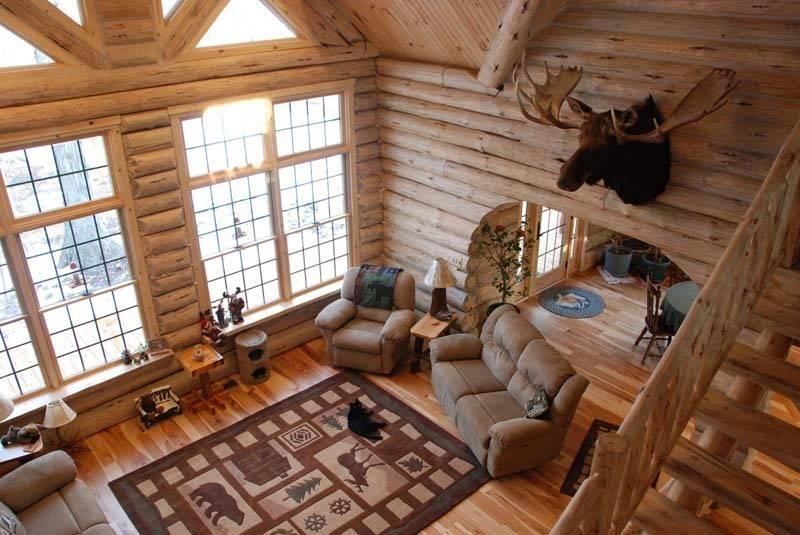 The Keplar Log Home Features Beautiful Interior And Exterior Log Cabin Interior Log Homes Log Home Floor Plans