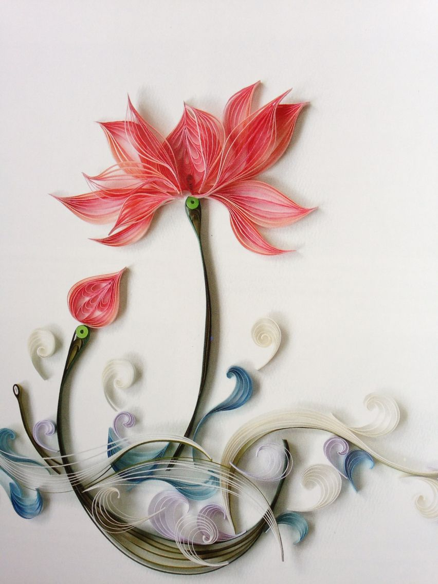 Paper quilling chinese style zhu liqun paper arts museum for Paper quilling paper