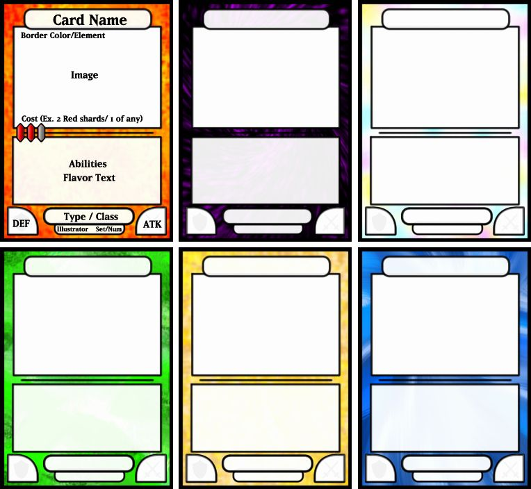 Blank Game Card Template Inspirational Best S Of Cards Game Board Template Board Game Trading Card Template Card Templates Free Game Card Design