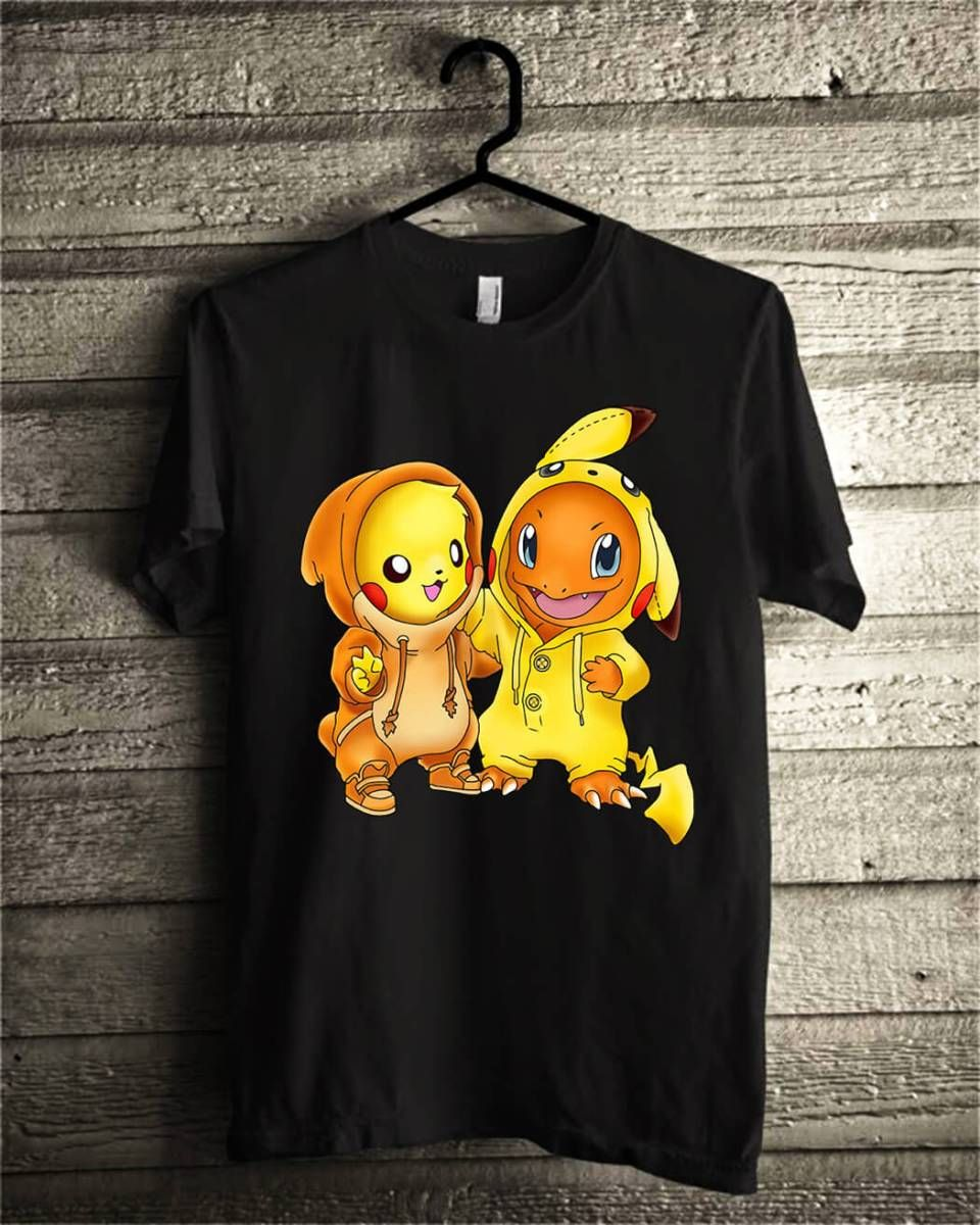 e92bc511 Pikachu and Pikachu Charmander pokemon shirt, hoodie, sweater ...