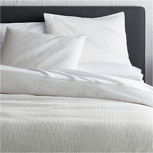 Lindstrom White Duvet Covers And Pillow Shams Crate And Barrel