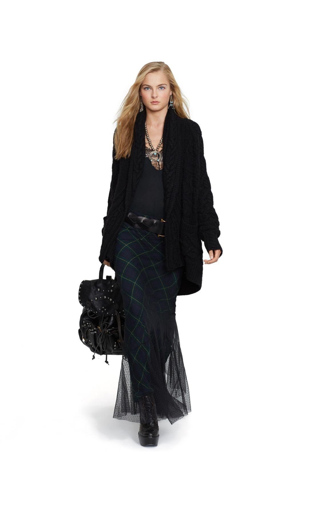 e45c8b1d6 Tulle-Overlay Tartan Maxiskirt - Long Skirts Skirts - RalphLauren.com