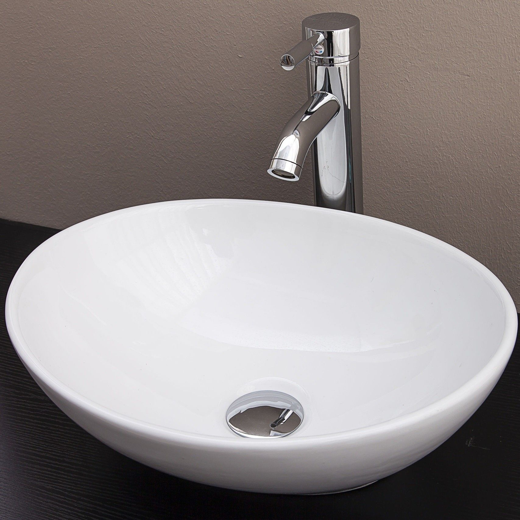 Oval Above Counter Basin For Vanity