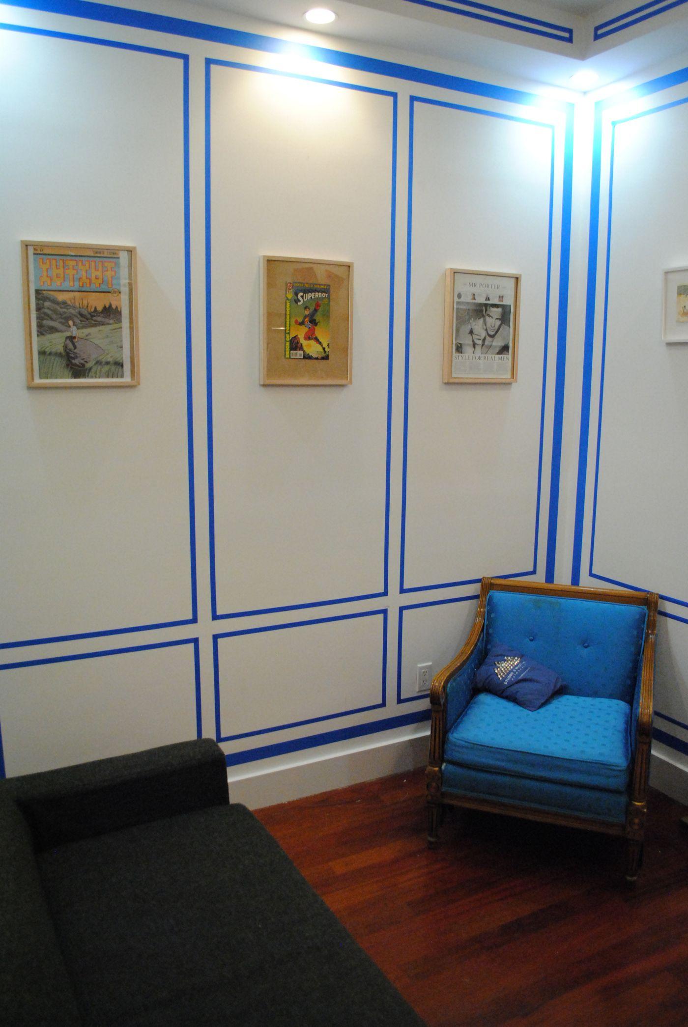Painters Tape Wall Paint Designs Painters Tape Design Paint