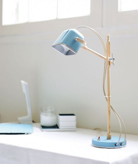 Lampe de bureau en bois MOB WOOD LUMINAIRES Lampe de table en