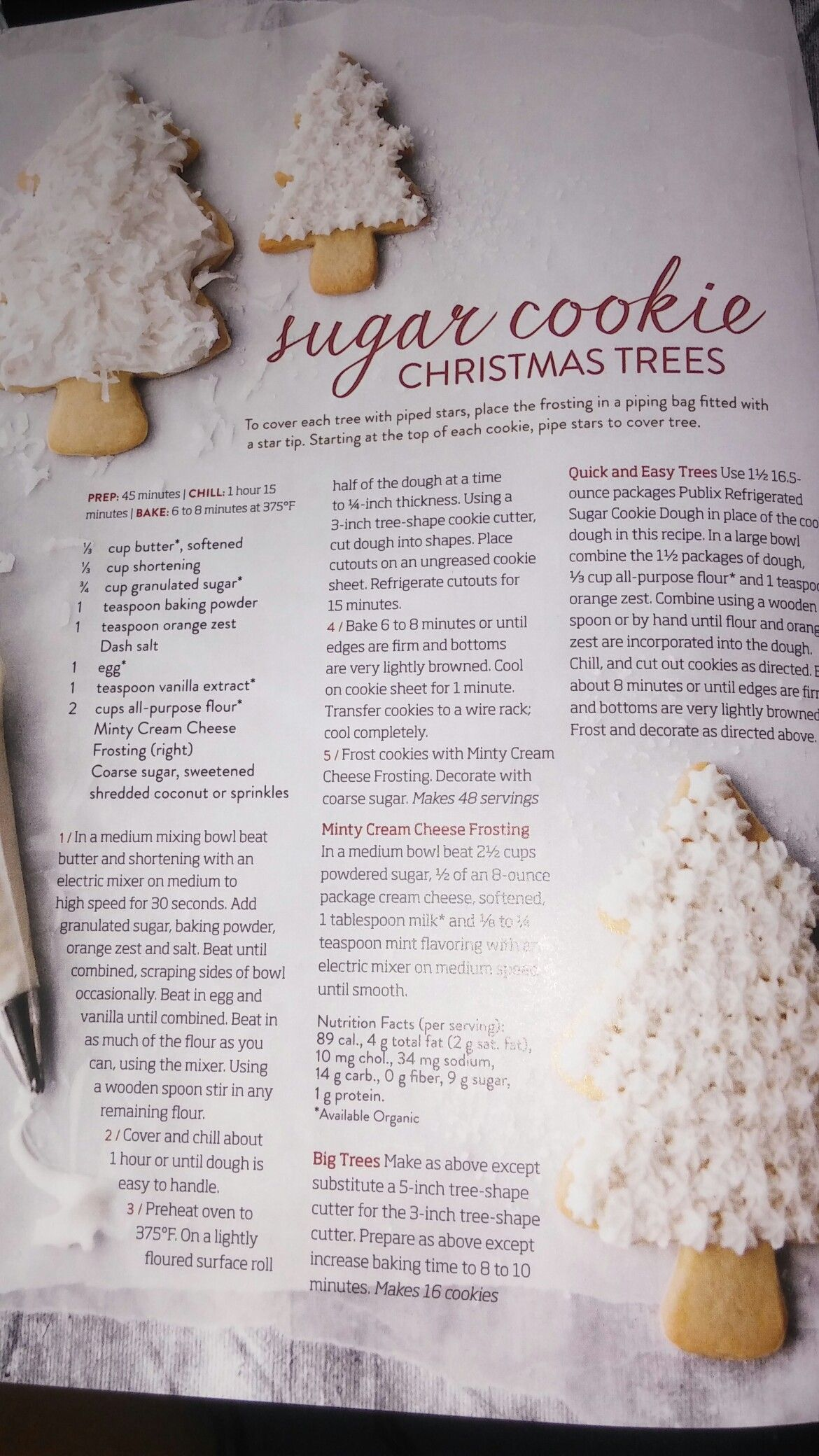 Sugar Cookie Christmas Trees Publix Family Style Magazine - 2013 ...