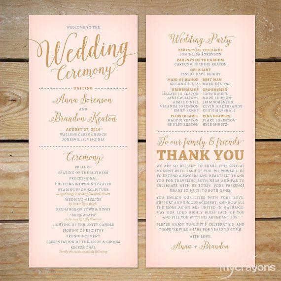 wedding pamphlet