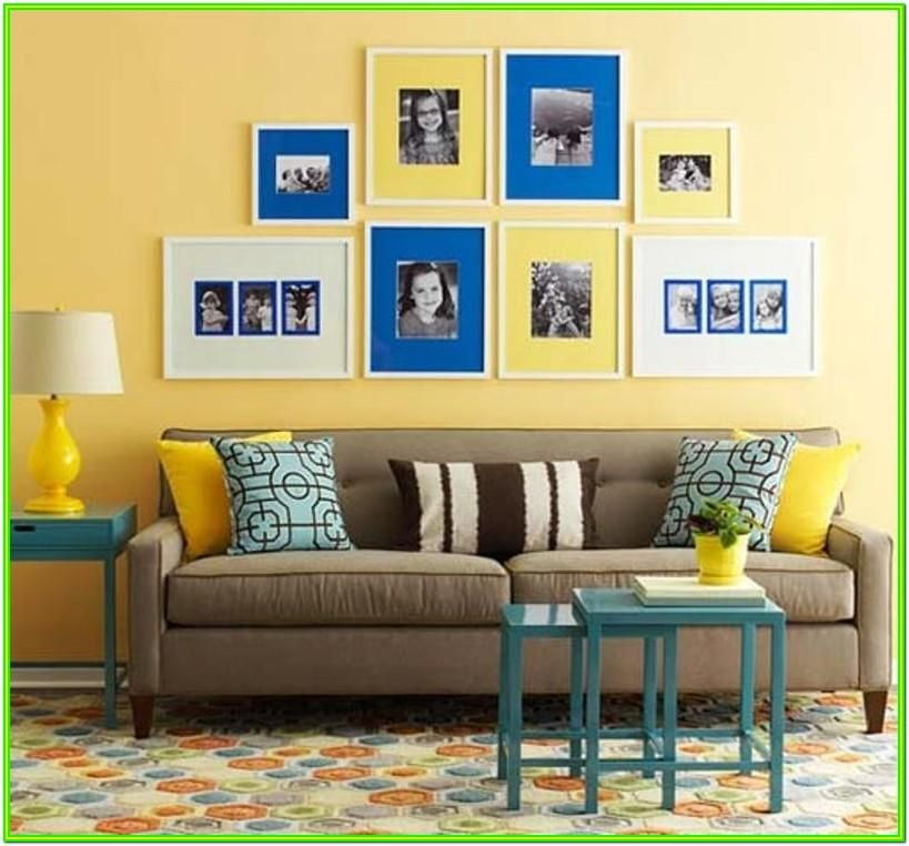 Decorating Living Room With Blue And Yellow Yellow Walls Living Room Yellow Living Room Living Room Design Yellow