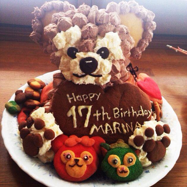 ダッフィー 誕生日 ケーキ 彼氏にもっ By 料理日記 誕生日ケーキ 誕生日 ケーキ