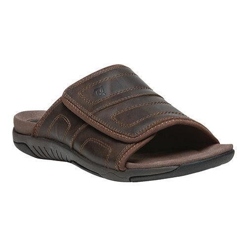 Men's Propet Hatterus Adjustable Strap Slide Full Grain