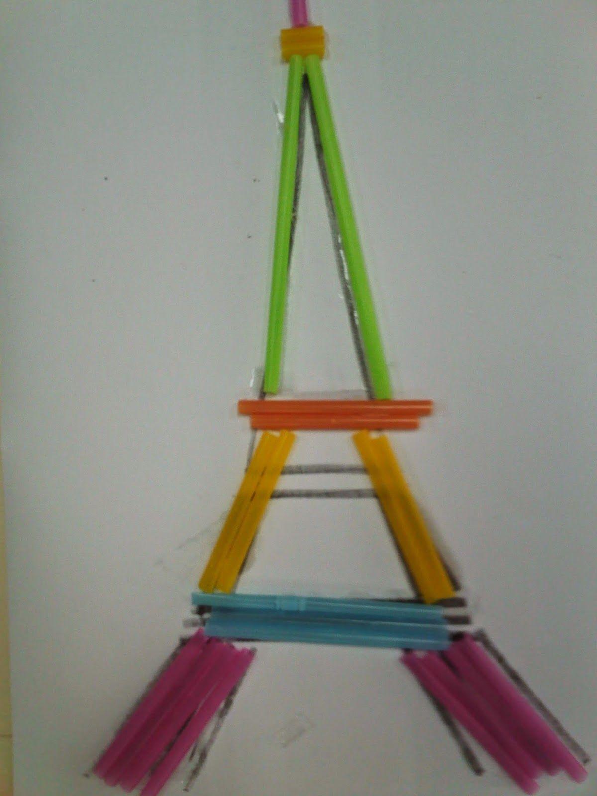 Eiffel Tower Straw Craft