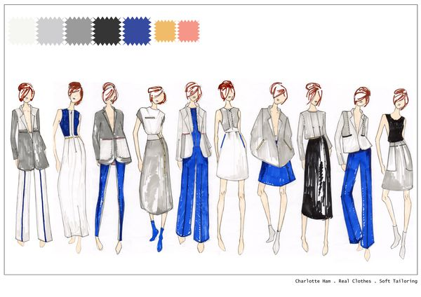 Fashion Design Ideas fashion design sketch Fashion Design Portfolio By Charlotte Ham Via Behance