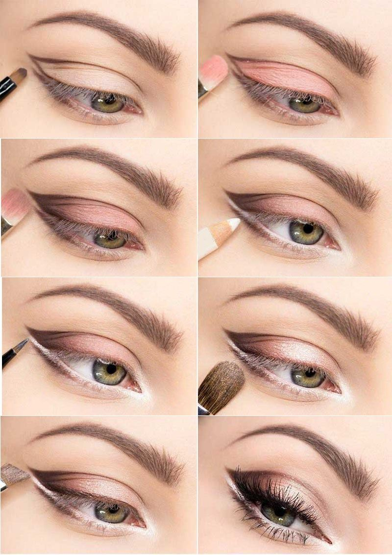 soft color for larger looking eyes - for small and hooded eyes