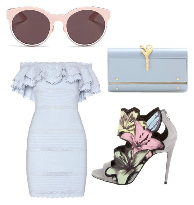 """spring fling"" by sonthia on Polyvore featuring Pierre Hardy, Alexander McQueen, Valentino and Christian Dior"