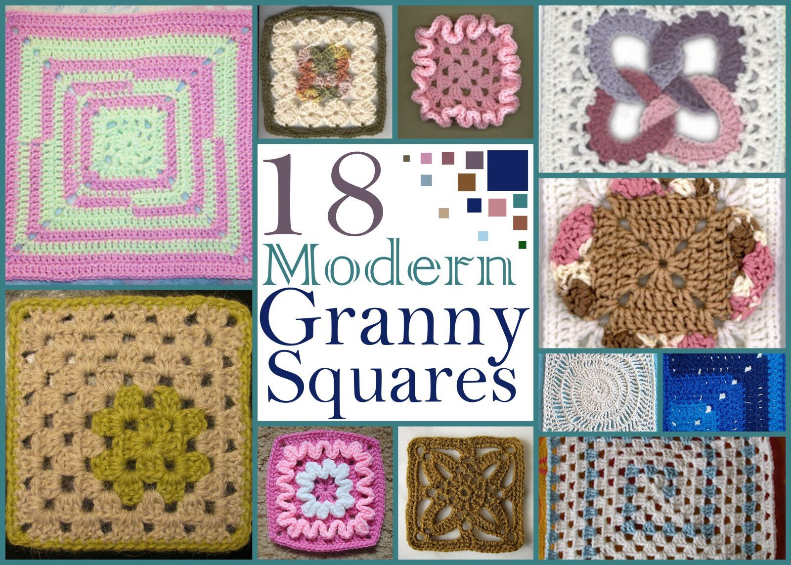 18 Modern Granny Squares | Cuadritos en crochet | Pinterest ...