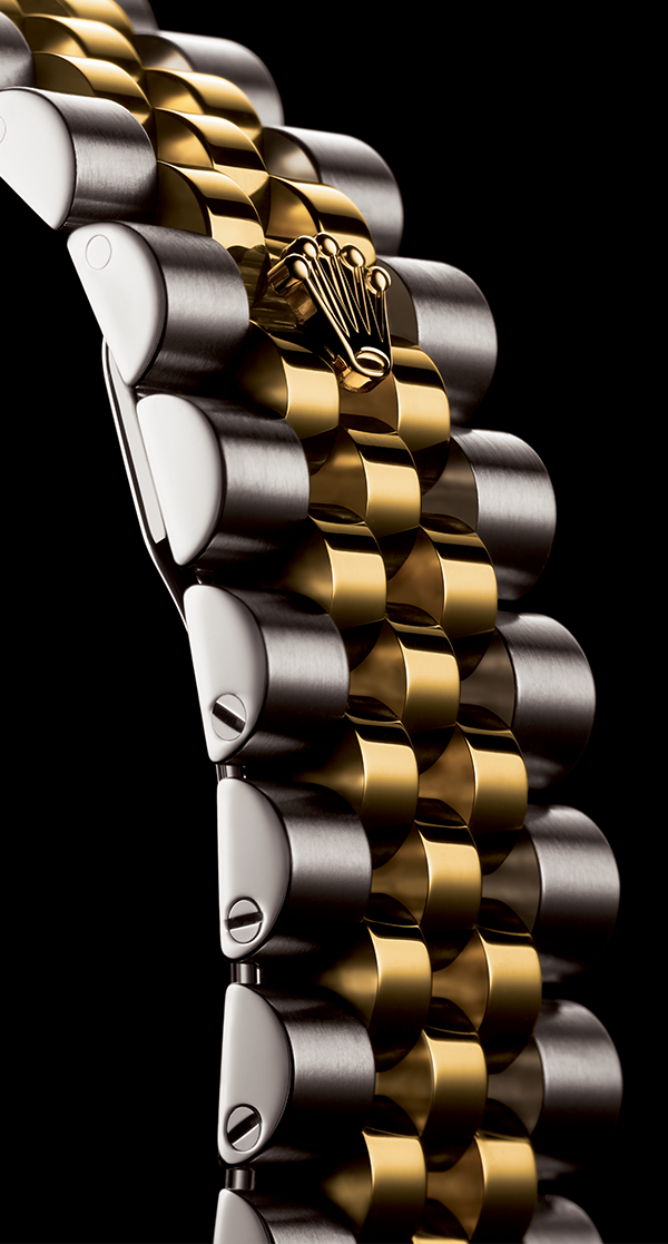 The Rolex Jubilee bracelet. A supple and comfortable five