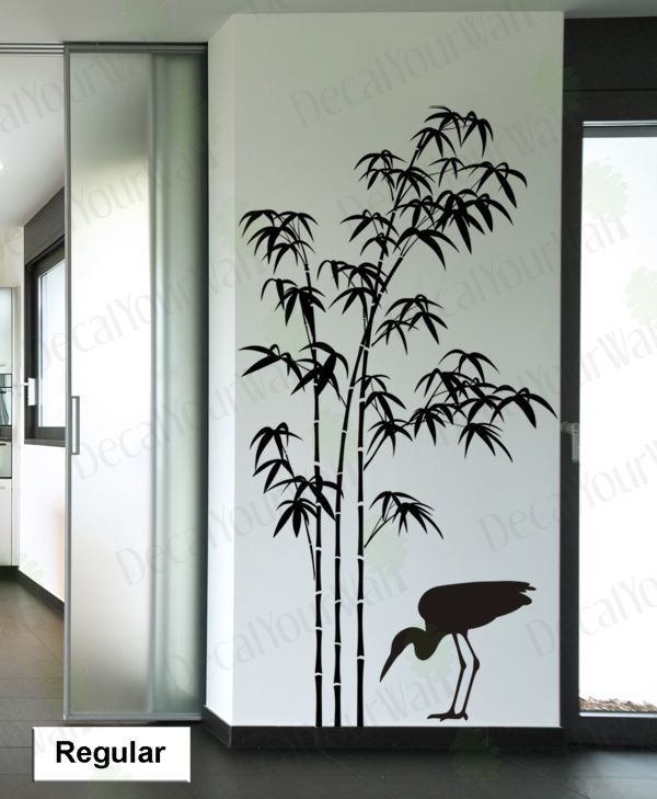 Bamboo Wall Decal Tree Wall Stickers Living Room Bedroom Wall Removable  Vinyl In Home U0026 Garden