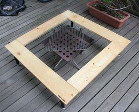 Diyで作る自作の囲炉裏テーブルの作り方 手作り キット ブログ 画像