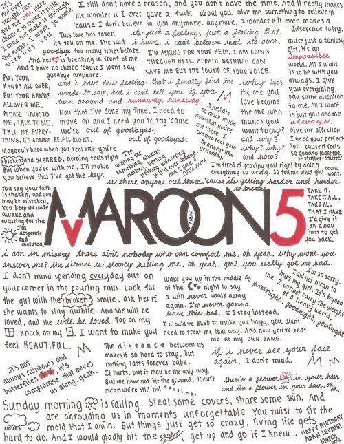 Maroon 5 Been A Fan Since Songs About Jane 3 Music Lyrics Maroon 5 Maroon 5 Lyrics