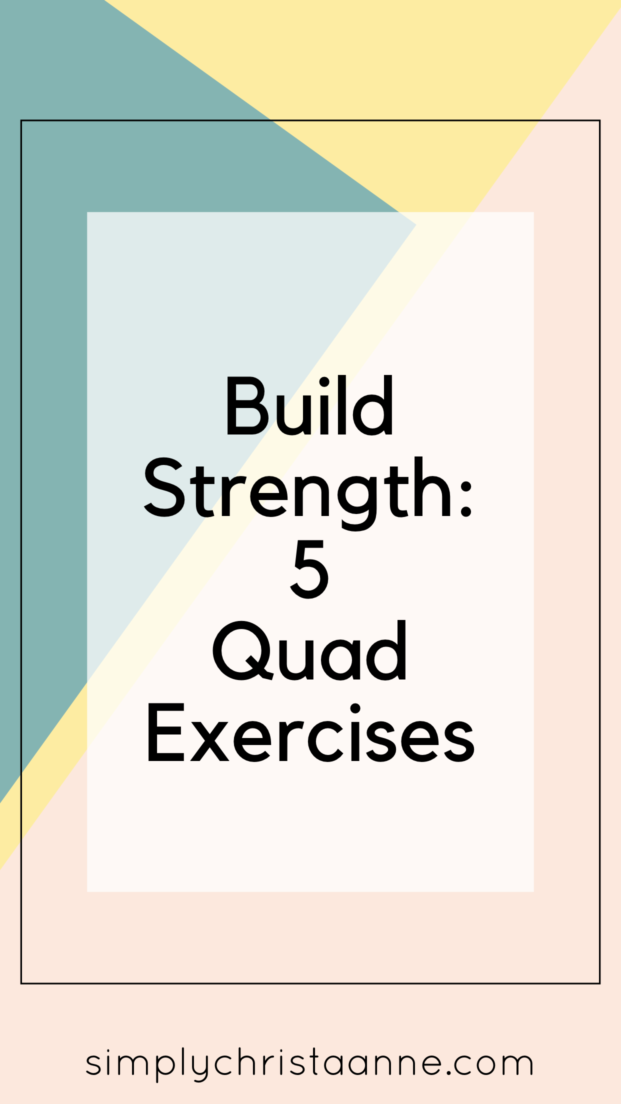 Ready to strengthen your quads? Here are 5 exercises to get you there. No equipment necessary so the...