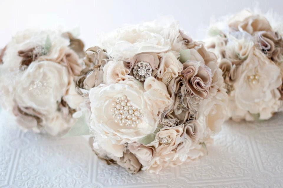 Fabric Bouquet Silk Flower Wedding Bouquet Fabric by Cultivar ...