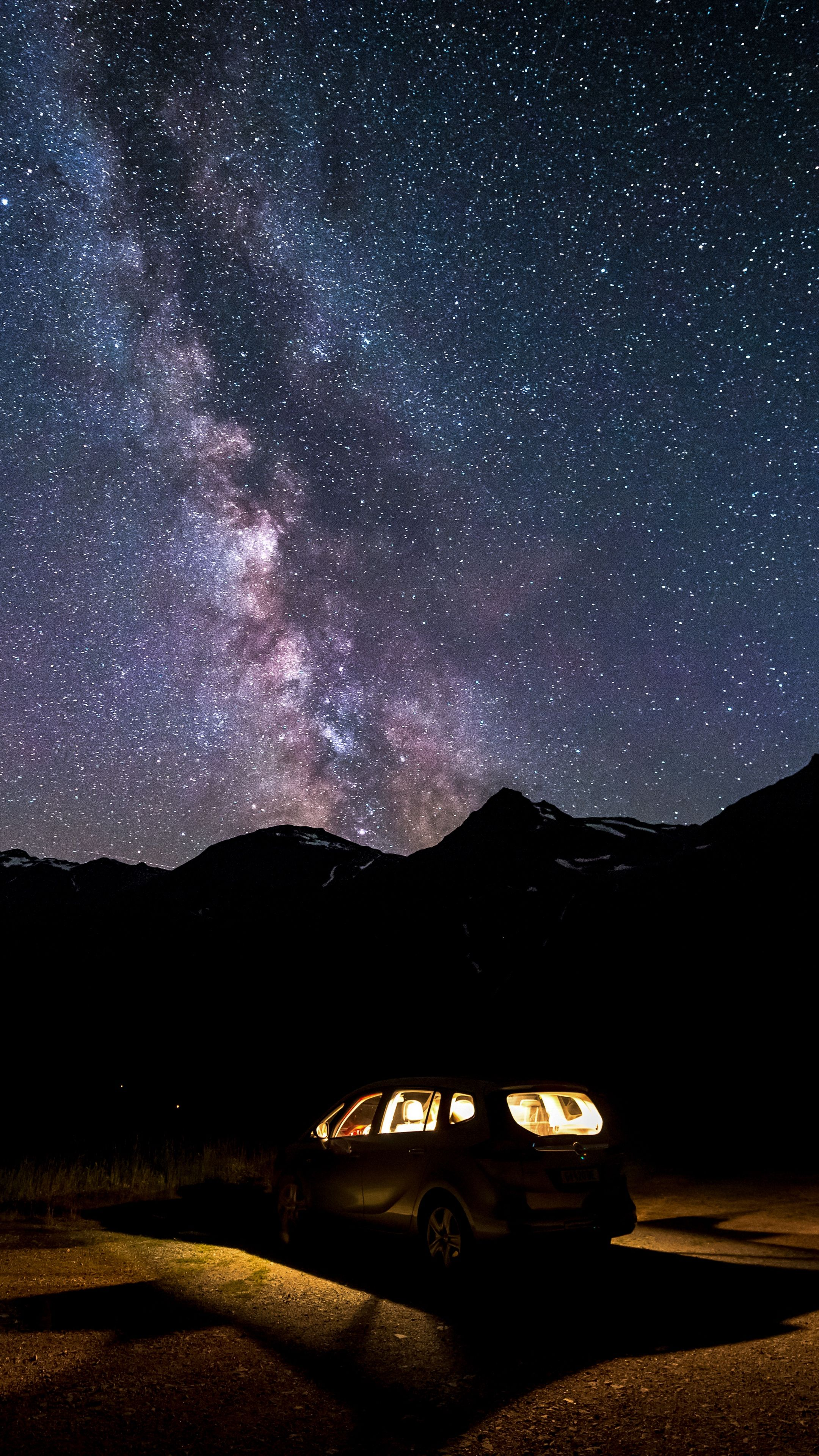 Nature Car Starrysky Milkyway Wallpapers Hd 4k Background For
