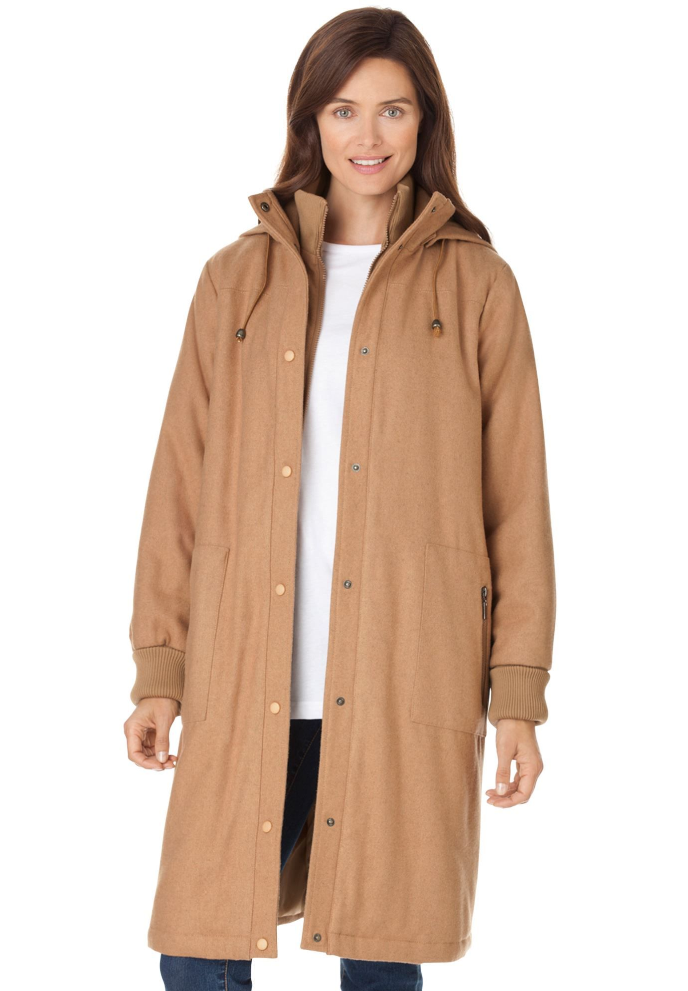 ddbfd654fda Coat in wool blend
