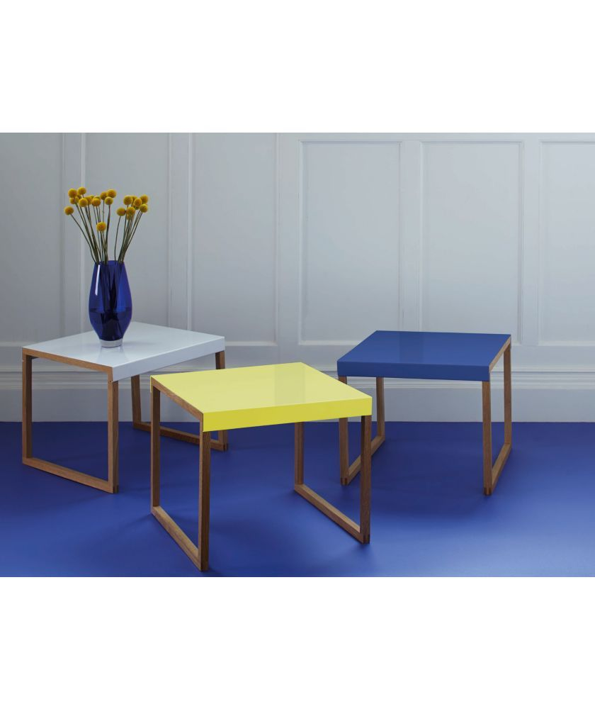 Buy habitat kilo side table yellow at your for Coffee tables habitat