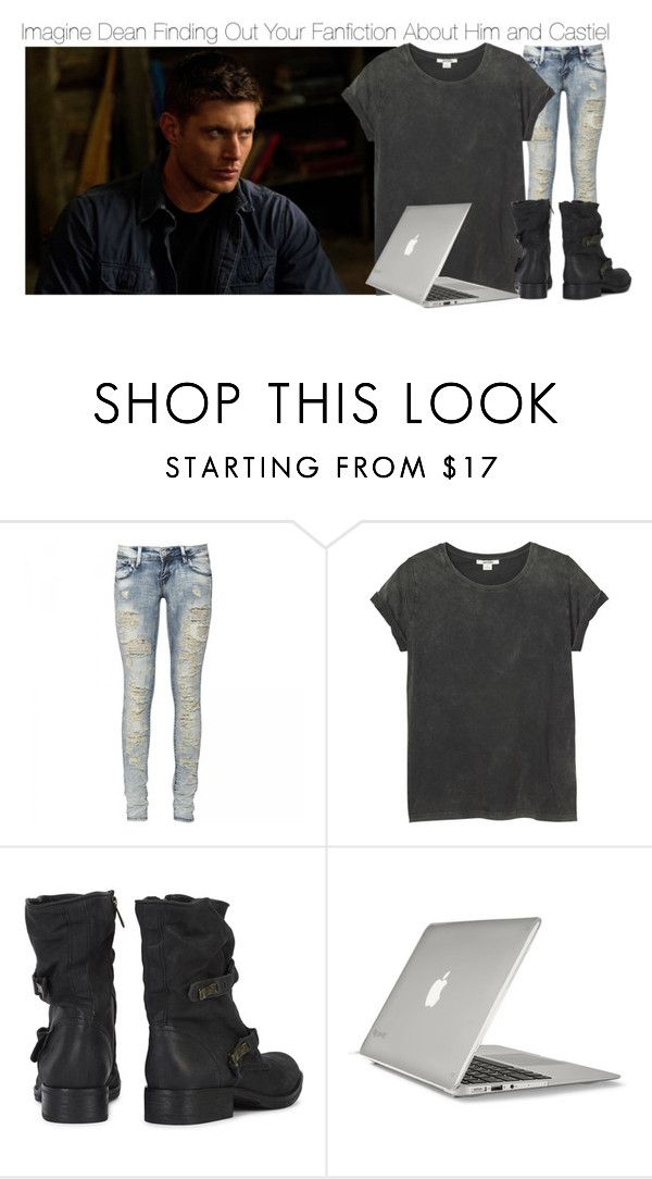 """""""Imagine Dean Finding Out Your Fanfiction About Him and Castiel"""" by fandomimagineshere ❤ liked on Polyvore featuring Monki, Sam Edelman and Speck"""