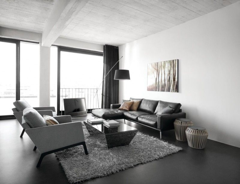 Best Black And White Modern Living Room Set Consisting Of Black 400 x 300