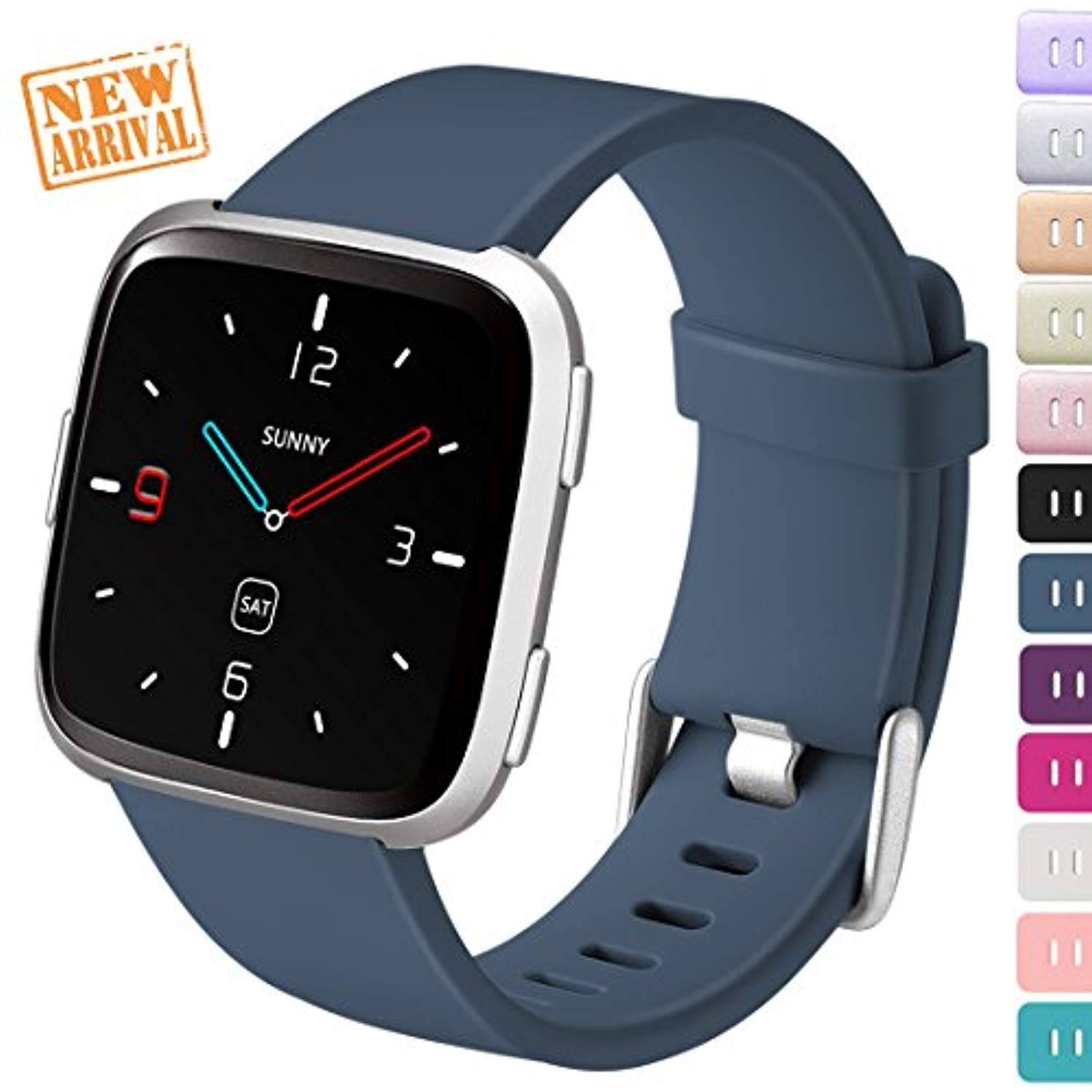 dbee2a5968f7b Ouwegaga For Fitbit Versa Bands Fitness Straps, Bands for Fitbit Versa  Smartwatch Bracelet Sport for Men Women Small Slateblue * You can get  additional ...