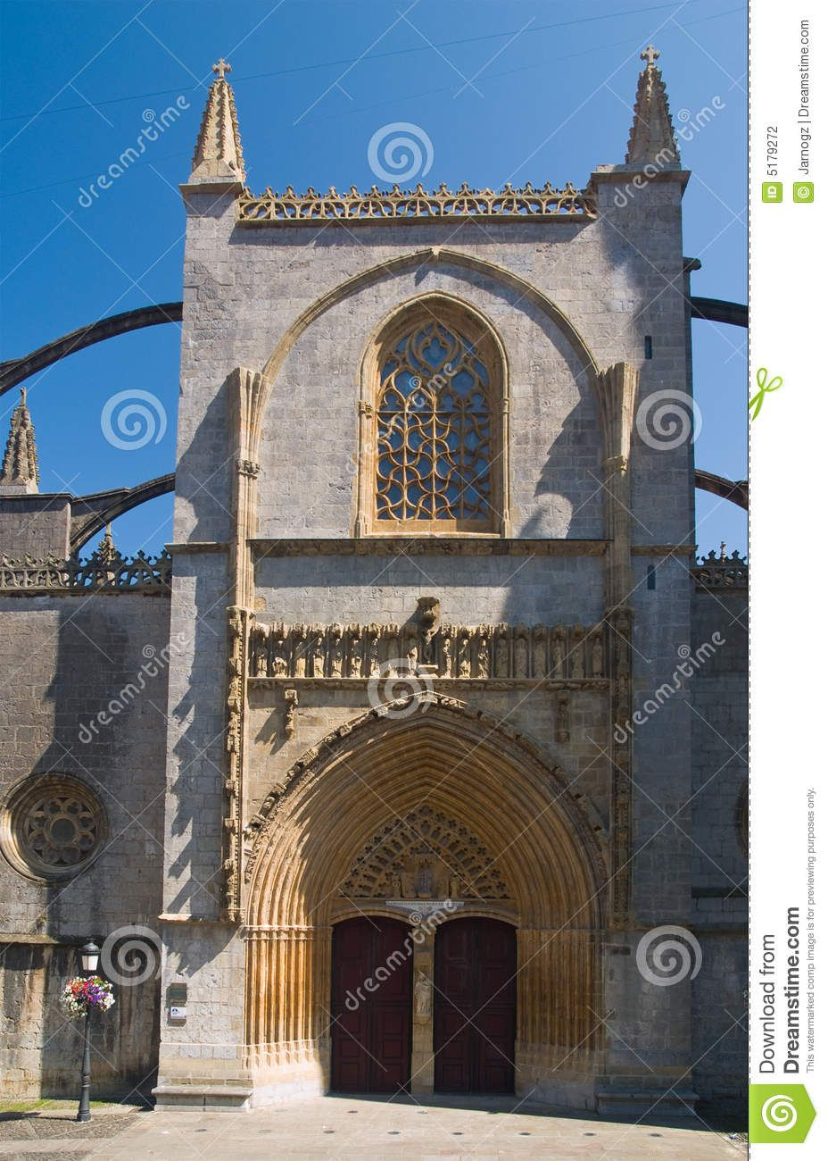 The Basque Country | Gothic Basilica In Lekeitio, Basque Country, Spain Stock Photography ...