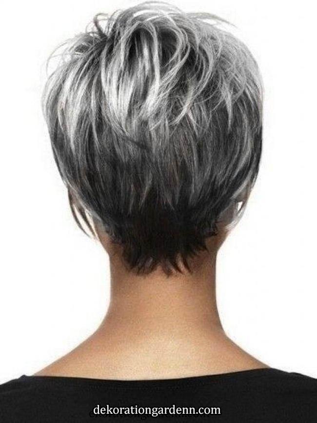 Kurzes Haar Mit Grauen Haaren Schone Frisuren Kurze Haare Haarschnitt Kurz Kurze Haare