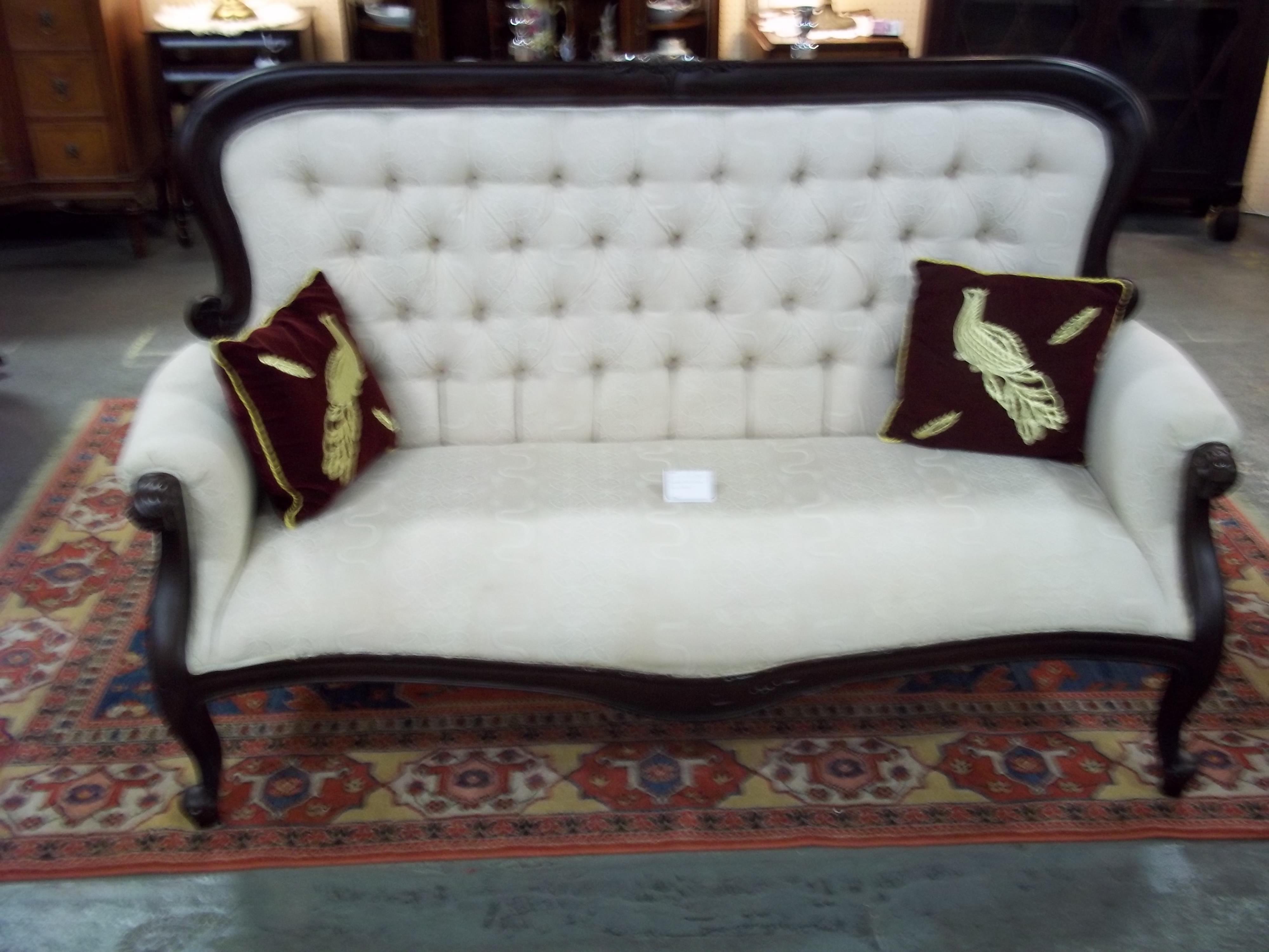 Italian Sofas for Sale   Italian Mahogany Sofa - For Sale ...