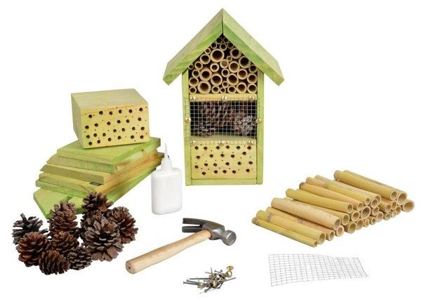 Garden insect hotel ideal for bees bugs and insects