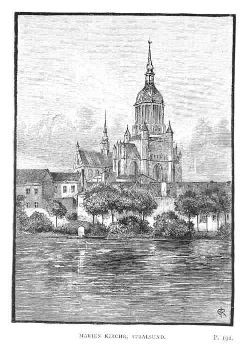 Stralsund, Germany   Germany: STRALSUND. Marien Kirche. Alte ansichten.1889. Deutschland